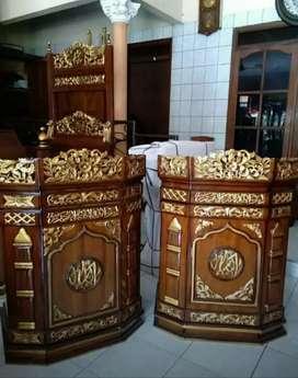 Mimbar masjid bahan jati kualitas jepara