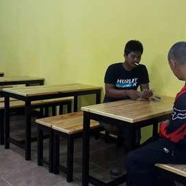 Meja kaffe satu set bhn dr ranggka kyu jati belanda satu meja 4 banggk
