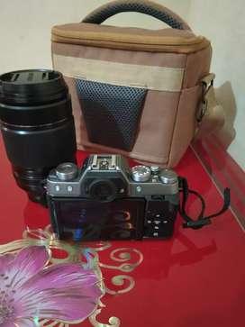 Jual santuy Kamera Mirrorless Fujifilm X-T100 lensa 55-200 mm