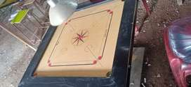 Carrom bord, coins, striker ,with four lamp and one stand