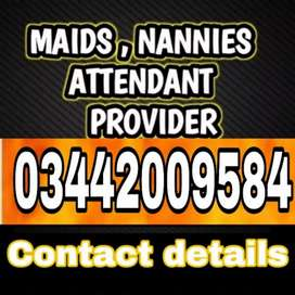 Housemaid Babysitter Cook Driver Attendant Nurse Chef avilbel for 24/7