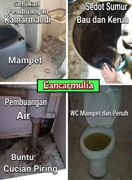 Sedot WC Selokan Got Washtafel Kuras Sumur Tandon Mampet Penuh Murah
