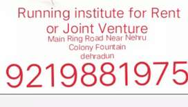 running coaching center for rent or joint venture