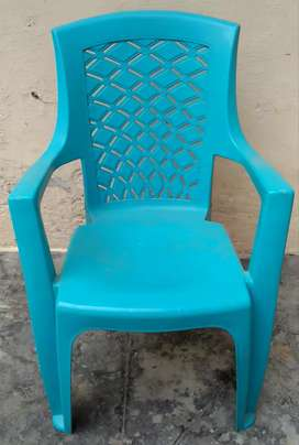 Blue color plastic chair for small kids upto  7-8 years old