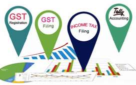 opportunity to learn Income Tax filing , GST filing, Accounts