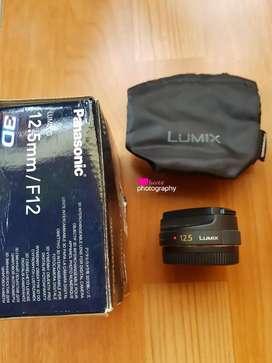 Panasonic lumix 12.5mm f12 3D