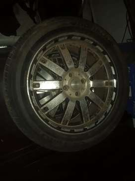 Mag wheels with tyres