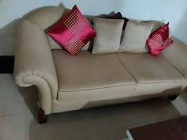 King size wooden sofa