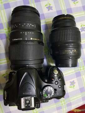 Nikon DSLR 5200 plus thamron 70-300mm