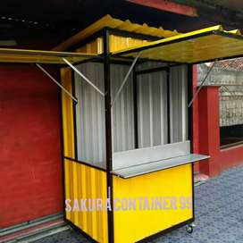 Booth jualan, booth container, booth dimsum, booth kue, booth makanan