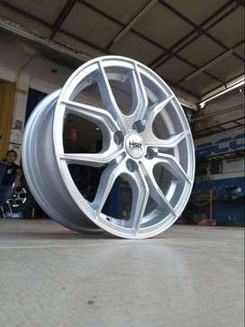Velg Mobil Pelek Racing Ring 15 HSR VOODOO HSR R15 Silver Lubang 4