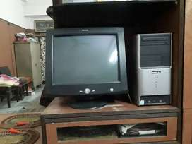 Hcl computer black colour with ups ,keyboard,,cpu,celeron d model