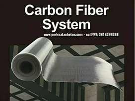 Ahli perkuatan struktur beton Carbon fiber FRP, CFRP, Eglass,jacketing
