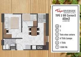 DIJUAL APARTMENT TOKYO PIK 2 UK 40m2 JARANG ADA !