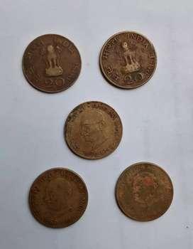 20 paise mahatma gandhi coins