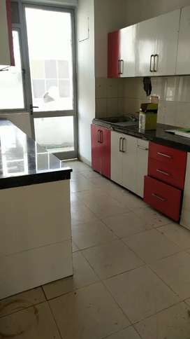 Semi-Furnished flat only in 9000