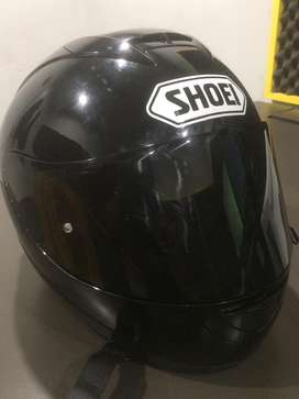 helm shoei basic ink plus dark flat visor nose guard shoei