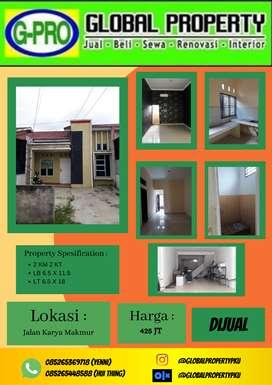 Dijual Rumah Murah Jalan karya Makmur Nego !