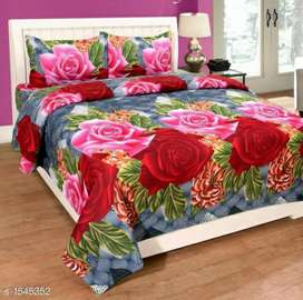 Free home delivery all over India. Bedsheet cover with 2 pillow cover