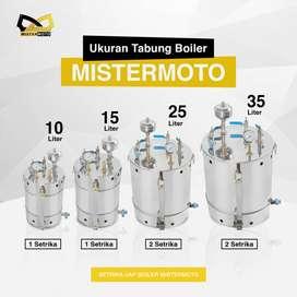 Setrika Uap Laundry Konveksi Gas MISTERMOTO 10ltr Tanpa Setrika