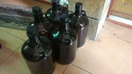 Botol kaca besar amber 4,5 Liter buat minuman/fermentasi