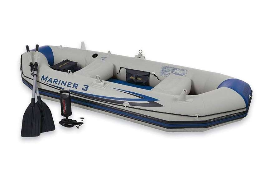"INTEX Boat Set Mariner 3 For 3 Persons ( 117"" X 50"" X 18"" ) 0"