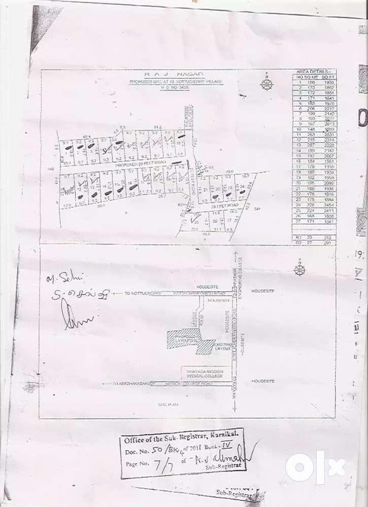 plot for sale in ecr near vinayaga mission medical college