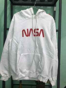 Hoodie H&M Nasa Font Red BNIP