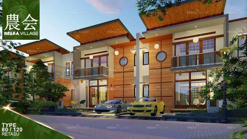 investasi rumah murah dua lantai di bandung dekat cimahi nouka village