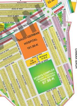 5 Marla Plot On Installment in Bahria Orchard Lahore