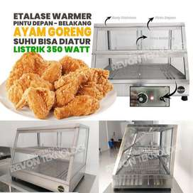 food warmer etalase penghangat ayam goreng fried chicken brebes