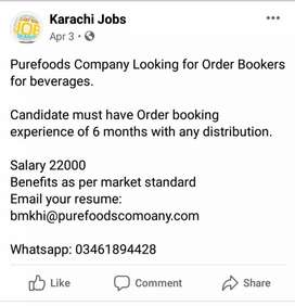 Order Booker Required