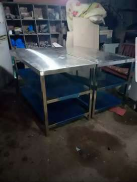Working Table size 2*4 with 3 shelfs 22 guage 201