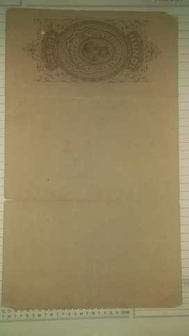 4 rupees 8 aana 1937stamp paper