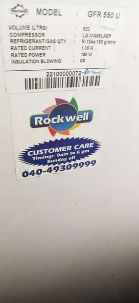 Rock well hard top 550lit freezer .less used