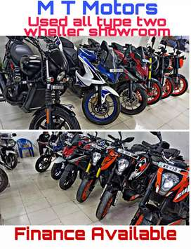 New condition bike and scooty available with easy emi facility