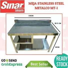 MEJA STAINLESS DAPUR METALCO MT-1 STEEL PART KNOCKDOWN PORTABLE