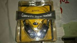 A4Tech headset with mic for sale.