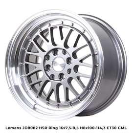 Velg Mobil Lampung LEMANS JD8082 HSR R16X75-85 H8X100-114,3 ET30 GML