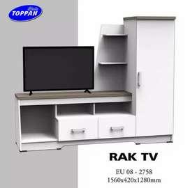 Lemari tv putih minimalis siap antar dan cod