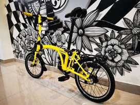Sepeda Lipat Seli 3sixty 3sixte Kuning Yellow