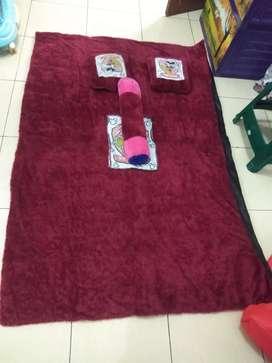 Surfet (Kasur karpet) 2 bantal 1 guling