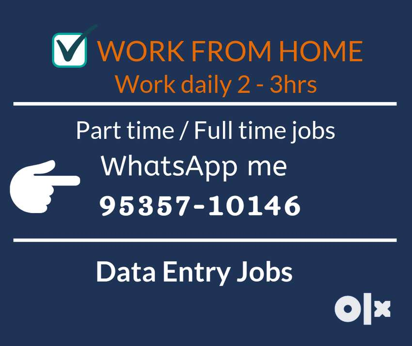 Work from home. Earn daily Rs.1000/-. Simple typing job. 0