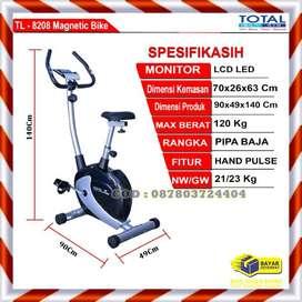 Alat Fitnes Sepeda Statis Magnetik TL 8208 Total Fitness