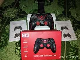 X3 Gamepad joysetick bluetooth plus holder HP