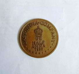 a rare east india company coin in 1839