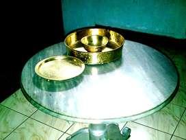 meja marmer antik / kuno / jadul