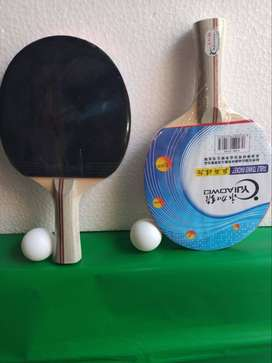 Table Tennis Racket with Ball & Cover