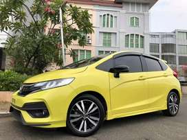Honda Jazz RS AT CVT 2018 Nik18 Yellow On Black RARE Km29rb Record