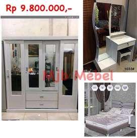 Mjb mebel - Promo set hantaran kayu import putih 980